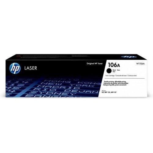 HP 106A Black Original Laser Toner Cartridge HP Laser 107a, 107r, 107w, MFP 135a, 135r, 135w, 137fnw (снимка 1)