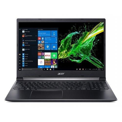 """Лаптоп Acer Аspire 7 A715-74G-51DS, черен, 15.6"""" (39.62см.) 1920x1080 (Full HD) без отблясъци, Процесор Intel Core i5-9300H (4x/8x), Видео nVidia GeForce GTX 1650/ 4GB DDR5, 8GB DDR4 RAM, 1TB HDD диск, без опт. у-во, Linux ОС, Клавиатура- светеща с БДС (снимка 1)"""