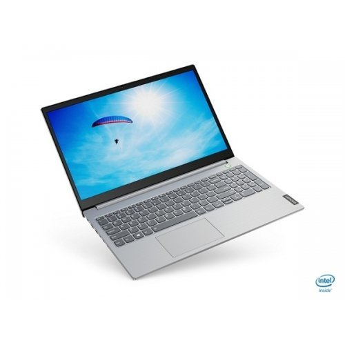 "Лаптоп Lenovo ThinkBook 15 Intel Core i3-10110U (2.1GHz up to 4.1GHz, 4MB), 8GB DDR4 2666MHz, 512GB SSD, 15.6"" FHD (1920x1080) IPS, AG, Intel UHD Graphics, WLAN ac, BT, 720p Cam, Mineral Grey, KB Backlit, FPR, 3 cell, DOS, 2Y (снимка 1)"