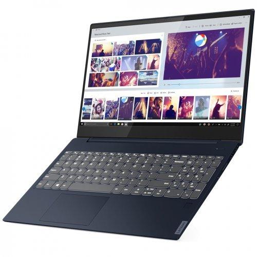 """Лаптоп Lenovo IdeaPad UltraSlim S340, син, 15.6"""" (39.62см.) 1920x1080 (Full HD) без отблясъци IPS, Процесор Intel Core i5-10210U (4x/8x), Видео nVidia GeForce MX250, 8GB DDR4 RAM, 512GB SSD диск, без опт. у-во, DOS ОС, с БДС (снимка 1)"""