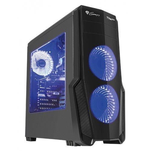 Компютърна кутия Genesis Titan 800 Blue Midi Tower Usb 3.0 (снимка 1)
