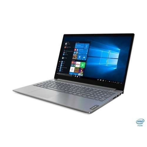 Лаптоп Lenovo ThinkBook 15 Intel Core i3-10110U (2.1GHz up to 4.1GHz, 4MB), 8GB DDR4 2666MHz, 256GB SSD, FHD (1920x1080), TN, AG, Intel UHD Graphics, WLAN ac, BT, 720p Cam, Mineral Grey, KB Backlit, FPR, 3 cell, DOS, 2Y (снимка 1)