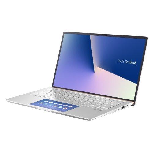 """Лаптоп Asus ZenBook UX434FAC-WB702T, сребрист, 14.0"""" (35.56см.) 1920x1080 (Full HD) без отблясъци, Процесор Intel Core i7-10510U (4x/8x), Видео интегрирана, 8GB LPDDR3 RAM, 512GB SSD диск, без опт. у-во, Windows 10 64 ОС, Клавиатура- светеща с БДС (снимка 1)"""