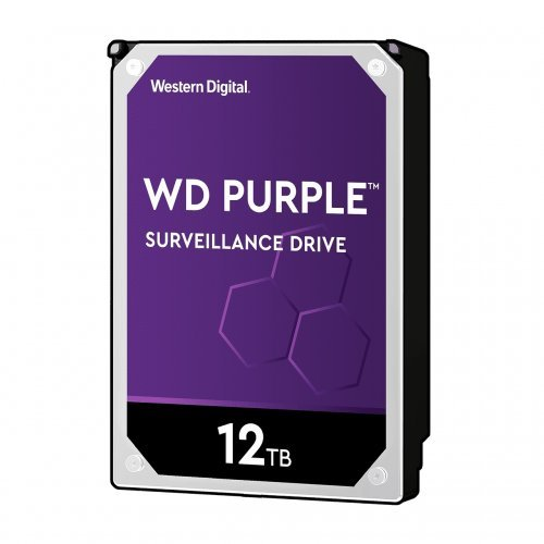 Твърд диск Western Digital 12TB, Purple 3.5, 5400rpm 256MB SATA3, WD121PURZ (снимка 1)