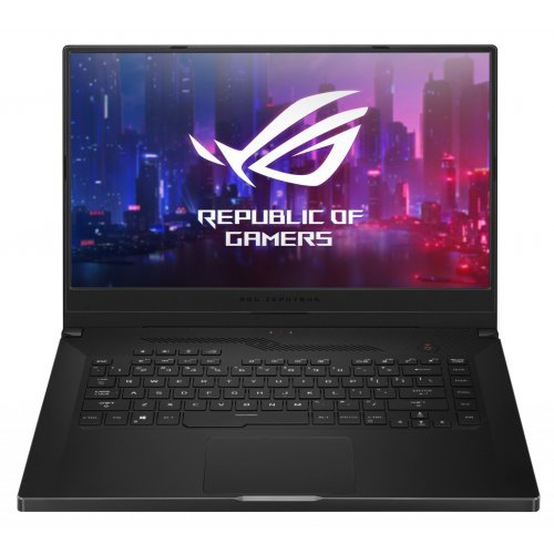 "Лаптоп Asus ROG Zephyrus G15 GA502DU-AL004T, черен, 15.6"" (39.62см.) 1920x1080 (Full HD) без отблясъци IPS, Процесор AMD Ryzen 7 3750H (4x/8x), Видео nVidia GeForce GTX 1660Ti w/ Max-Q Design/ 6GB GDDR6, 8GB DDR4 RAM, 256GB SSD диск, без опт. у-во, Windows 10 64 ОС, Клавиатура- светеща (снимка 1)"