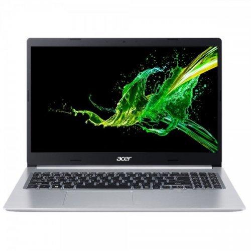 "Лаптоп Acer A515-55-58XL, сребрист, 15.6"" (39.62см.) 1920x1080 (Full HD) IPS, Процесор Intel Core i5-1035G1 (4x/8x), Видео Intel UHD, 4GB DDR4 RAM, 1TB HDD диск, без опт. у-во, Endless Linux ОС, Клавиатура- с БДС (снимка 1)"