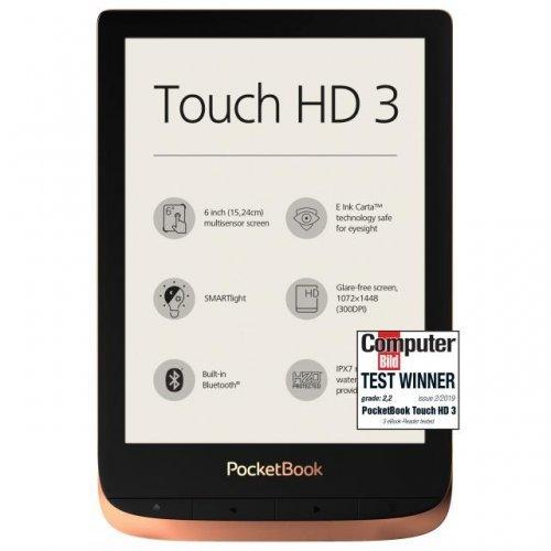 "Електронна книга POCKETBOOK Touch HD3 PB632-K-WW, 6"", Spicy Copper (снимка 1)"