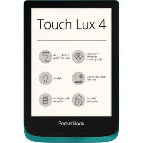 "Електронна книга POCKETBOOK Touch Lux 4 PB627, 6"", Емералд (снимка 1)"