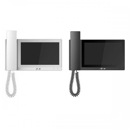 Монитор Dahua VTH5221E-H, 7-инчов цветен IP LCD капацитивен touch монитор, POE, Black (снимка 1)
