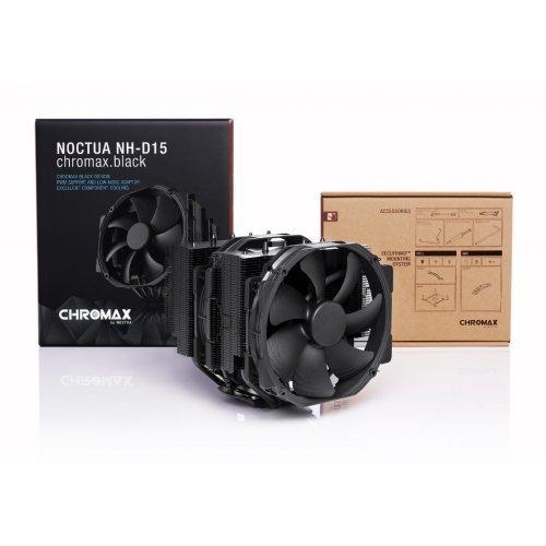 Охлаждане Noctua Охладител CPU Cooler NH-D15 chromax.black (снимка 1)