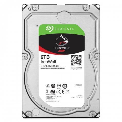 """Твърд диск Seagate 6TB IronWolf NAS, ST6000VN001, SATA3, 256MB, 5400rpm, 3.5"""" internal (снимка 1)"""