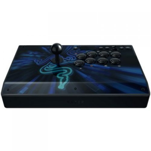Razer Panthera Evo Arcade Stick for PS4, 8 Razer Mechanical Switch pushbuttons, Authentic Sanwa joystick with ball top, Fully accessible internals for easy modification, 3 m hard wired cable and cable management storage (снимка 1)