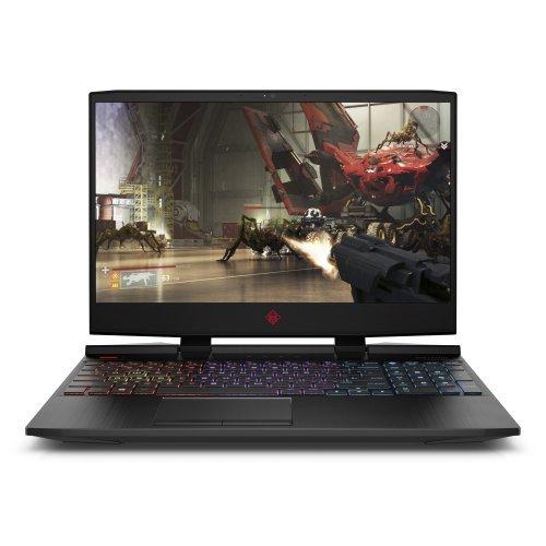 """Лаптоп HP Omen 15-dc1016nu, черен, 15.6"""" (39.62см.) 1920x1080 (Full HD) без отблясъци IPS, Процесор Intel Core i7-9750H (6x/12x), Видео nVidia GeForce RTX 2070/ 8GB GDDR6, 16GB DDR4 RAM, 1TB HDD + 512GB SSD диск, без опт. у-во, Windows 10 64 ОС, Клавиатура- светеща с БДС (снимка 1)"""