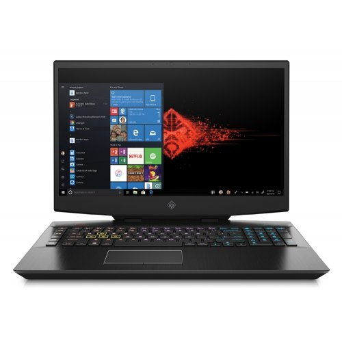 "Лаптоп HP Omen 17-cb0006nu, черен, 17.3"" (43.94см.) 1920x1080 (Full HD) без отблясъци IPS, Процесор Intel Core i7-9750H (6x/12x), Видео nVidia GeForce RTX 2070/ 8GB GDDR6, 16GB DDR4 RAM, 1TB HDD + 512GB SSD диск, без опт. у-во, Windows 10 64 ОС, Клавиатура- светеща с БДС (снимка 1)"