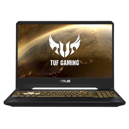 "Лаптоп Asus TUF Gaming FX505DY-BQ024, черен, 15.6"" (39.62см.) 1920x1080 (Full HD) без отблясъци, Процесор AMD Ryzen 5 3550H (4x/8x), Видео AMD Radeon RX560X/ 4GB GDDR5, 8GB DDR4 RAM, 512GB SSD диск, без опт. у-во, без ОС, Клавиатура- светеща с БДС (снимка 1)"