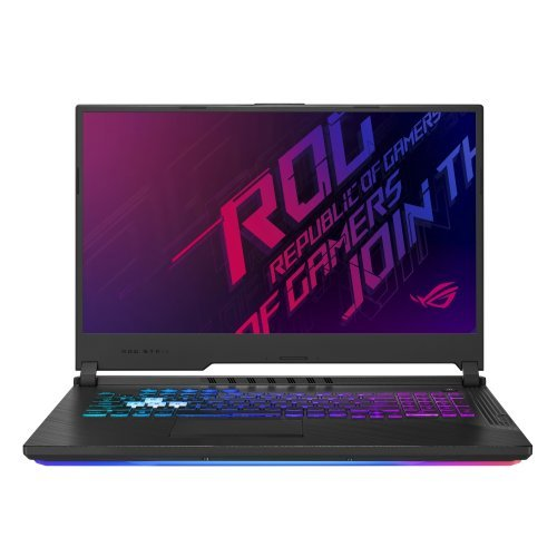 "Лаптоп Asus ROG STRIX G G731GW-EV042T, черен, 17.3"" (43.94см.) 1920x1080 (Full HD) IPS, Процесор Intel Core i7-9750H (6x/12x), Видео nVidia GeForce RTX 2070/ 8GB GDDR6, 16GB DDR4 RAM, 1TB HDD + 512GB SSD диск, без опт. у-во, Windows 10 64 ОС, Клавиатура- светеща с БДС (снимка 1)"
