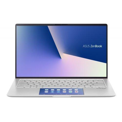 """Ултрабук Asus Ultrabook ZenBook UX434FLC-WB502T, сребрист, 14.0"""" (35.56см.) 1920x1080 (Full HD) лъскав, Процесор Intel Core i5-10210U (4x/8x), Видео nVidia GeForce MX250/ 2GB GDDR5, 8GB LPDDR3 RAM, 512GB SSD диск, без опт. у-во, Windows 10 64 ОС, Клавиатура- светеща с БДС (снимка 1)"""