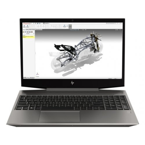 "Лаптоп HP Zbook 15v G5 Intel Core i7-9750H with Intel UHD Graphics 630 (2.6 GHz base frequency, up to 4.5 GHz with Intel Turbo Boost Technology, 12 MB cache, 6 cores) 15.6""  FHD IPS anti-glare LED-backlit (1920 x 1080) 16 GB DDR4-2666 SDRAM (1 x 16 GB) 256 GB  SATA SSD&1 TB 7200 rpm SATA NVIDIA® Quadro® P620 (4 GB GDDR5 dedicated) Windows 10 Pro (снимка 1)"