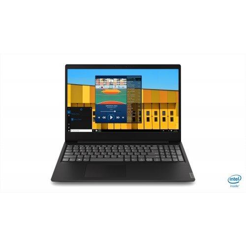"Лаптоп Lenovo IdeaPad S145, черен, 15.6"" (39.62см.) 1920x1080 (Full HD), Процесор Intel Pentium Quad-Core N5000, Видео интегрирана, 4GB DDR4 RAM, 256GB SSD диск, без опт. у-во, DOS ОС (снимка 1)"