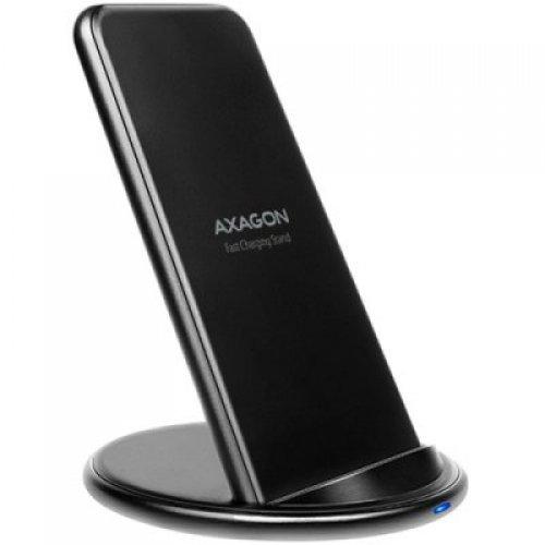 Безжично зарядно AXAGON WDC-S10D dual coil Wireless Fast Charging Stand, Qi 5/7.5/10W, micro USB (снимка 1)