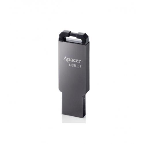 USB флаш памет 32GB Apacer AH360 Black Nickel - USB 3.1 Gen1 (снимка 1)