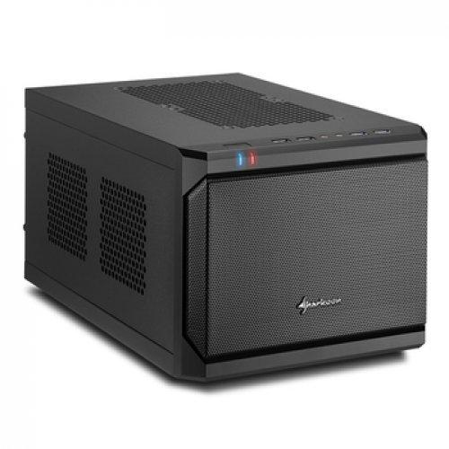 Компютърна кутия Sharkoon Mini-ITX QB One, Black (снимка 1)