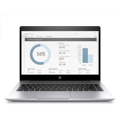 """Лаптоп HP Elite Book 755 G5, сребрист, 15.6"""" (39.62см.) 1920x1080, Процесор AMD Ryzen 7 2700U (4x/8x), Видео AMD Radeon RX Vega 10, 16GB DDR4 RAM, 256GB SSD диск, без опт. у-во, Windows 10 Pro ОС (снимка 1)"""