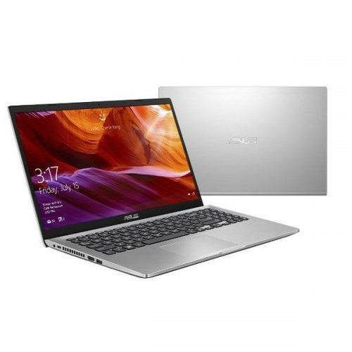 "Лаптоп Asus X509JB-WB301, сребрист, 15.6"" (39.62см.) 1920x1080 без отблясъци, Процесор Intel Core i3-1005G1 (2x/4x), Видео nVidia GeForce MX110/ 2GB GDDR5, 4GB DDR4 RAM, 256GB SSD диск, без опт. у-во, без ОС (снимка 1)"