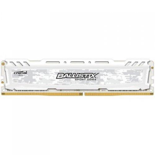 RAM памет DDR4 PC 8GB 3200MHz, Crucial Ballistix Sport LT White, CL16, SR x8, 288pin Unbuffered UDIMM DRAM, PC4-25600 (снимка 1)