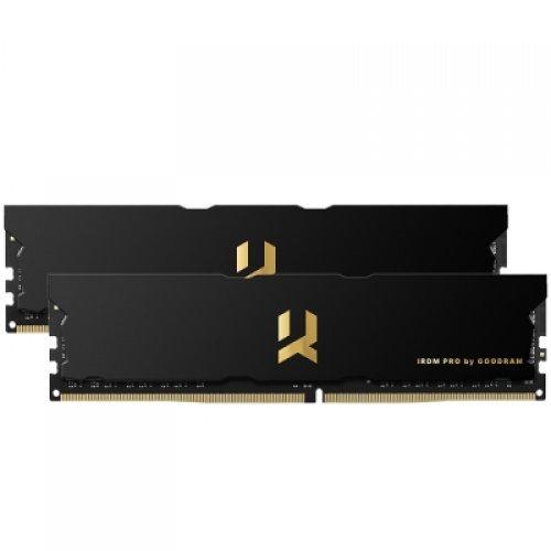 RAM памет DDR4 PC Kit 16GB(2x8GB) 3600MHz, GOODRAM IRDM PRO PC4-28800, Timing 17-19-19, DUAL CHANNEL, BLACK 1.35V (снимка 1)