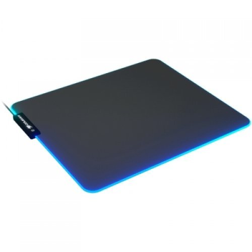 COUGAR Neon, RGB Gaming Mouse Pad, HD Texture Design, Stitched Lighting Border + 4mm Thickness, Wave-Shaped Anti-Slip Rubber Base, Cloth / Nature Rubber, 350 x 300 x 4 mm (снимка 1)
