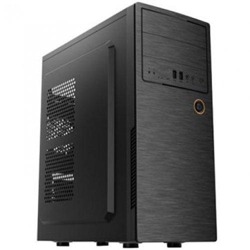 Компютърна кутия GOLDEN FIELD E180-1 Midi Tower, ATX, 7 slots, Audio Interface, USB 2.0, Steel 0.5 mm, PSU 550W ,120mm, Black (снимка 1)