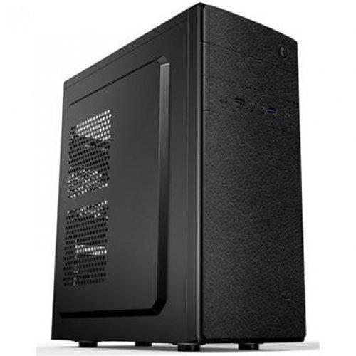 Компютърна кутия GOLDEN FIELD E182 Midi Tower, ATX, 7 slots, Audio Interface, USB 2.0, Steel 0.5 mm, PSU 550W ,120mm, Black (снимка 1)