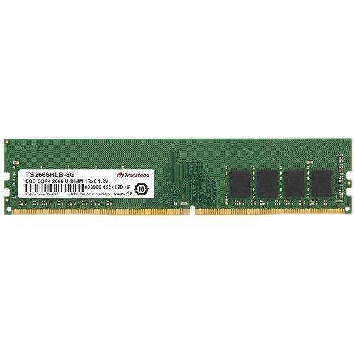 RAM памет DDR4 PC 8GB 2666Mhz, Transcend TS, 288 pin U-DIMM 1Rx8 1Gx8 CL19 1.2V, Unbuffered Long-DIMM (снимка 1)