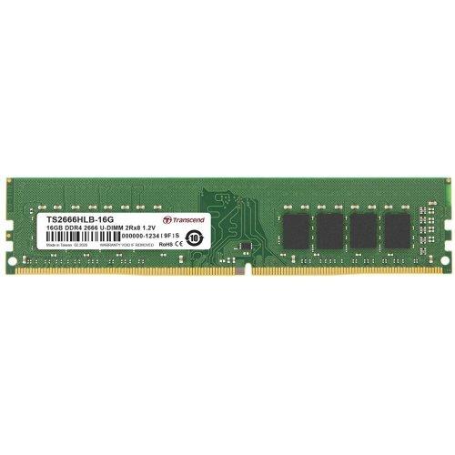 RAM памет DDR4 PC 16GB 2666Mhz, Transcend TS, 288 pin U-DIMM 2Rx8 1Gx8 CL19 1.2V, Unbuffered Long-DIMM (снимка 1)