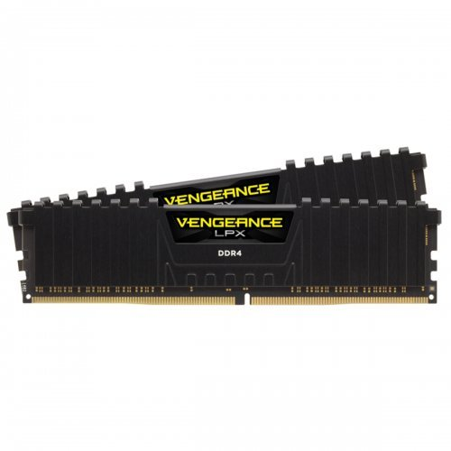 RAM памет DDR4 PC Kit 16GB(2x8GB) 3600MHz, Corsair VENGEANCE LPX BLACK, CL18, Timing up ot 18-22-22-42, up to 1.35V, XMP 2.0, Anodized Aluminum Heat, 288-pin DIMM, PC4-28800 (снимка 1)