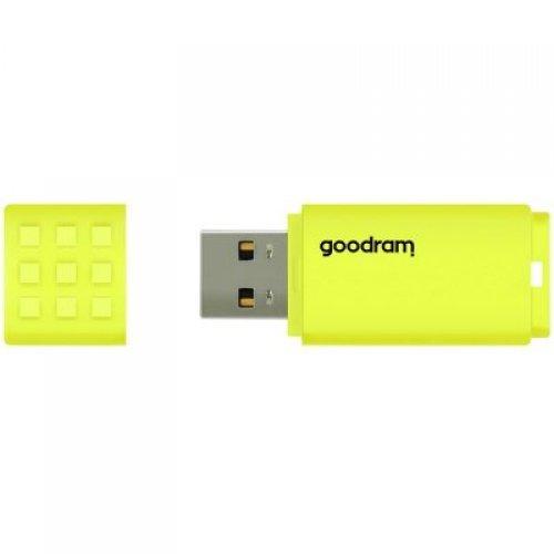 USB флаш памет 128GB GOODRAM UME2 USB 2.0 Flash Drive, yellow colour (снимка 1)