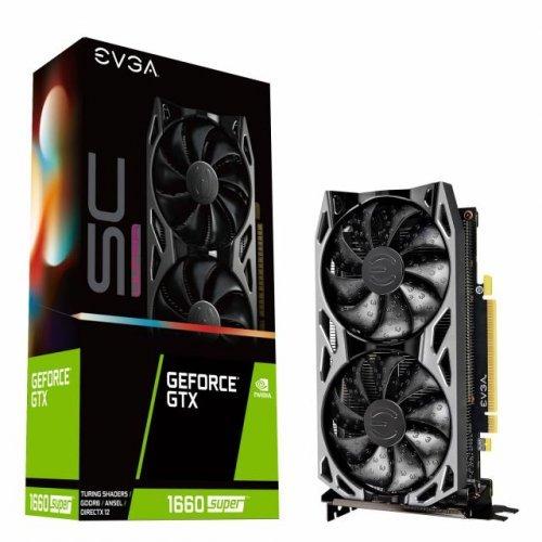 Видео карта nVidia EVGA GeForce GTX 1660 SUPER SC ULTRA GAMING 6GB GDDR6  (снимка 1)