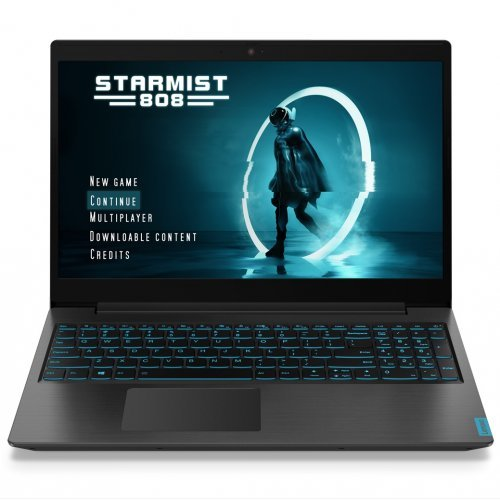 "Лаптоп Lenovo IdeaPad L340, черен, 15.6"" (39.62см.) 1920x1080 без отблясъци IPS, Процесор Intel Core i5-9300HF (4x/8x), Видео nVidia GeForce GTX 1650/ 4GB GDDR5, 8GB DDR4 RAM, 512GB SSD диск, без опт. у-во, DOS ОС, с БДС (снимка 1)"