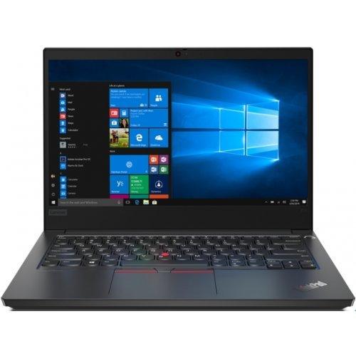 "Лаптоп Lenovo ThinkPad Edge E14, черен, 14.0"" (35.56см.) 1920x1080 без отблясъци IPS, Процесор Intel Core i5-10210U (4x/8x), Видео интегрирана, 8GB DDR4 RAM, 256GB SSD диск, без опт. у-во, Windows 10 Pro 64 ОС, Клавиатура- с БДС (снимка 1)"