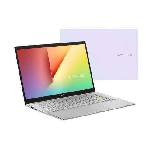 """Лаптоп Asus VivoBook S14 S433FAC-WB504T, NumPad, бял, 14.0"""" (35.56см.) 1920x1080 без отблясъци, Процесор Intel Core i5-10210U (4x/8x), Видео Intel UHD, 8GB DDR4 RAM, 512GB SSD диск, без опт. у-во, Windows 10 64 ОС, Клавиатура- светеща с БДС (снимка 1)"""