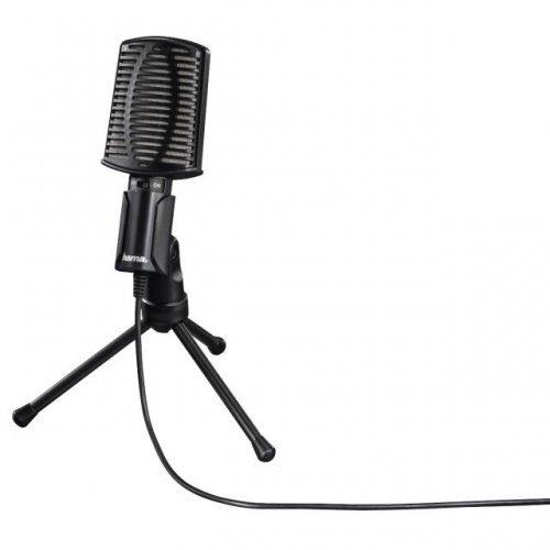 Микрофон HAMA MIC-USB Allround, Настолен микрофон за PC/лаптоп, USB, Черен (снимка 1)