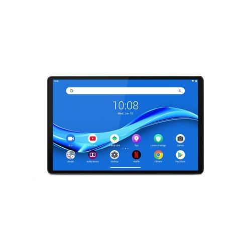 "Таблет Lenovo Tab M10 Plus LTE WiFi GPS BT5.0, Helio 2.3GHz OctaCore, 10.1"" IPS 1920x1200, 4GB DDR4X, 64GB flash, 8MP AutoFocus + 5MP front, Nano SIM, MicroSD up to 256GB, USB-C, full-metal body, Android 9 Pie, Dolby Atmos, Iron Grey (снимка 1)"