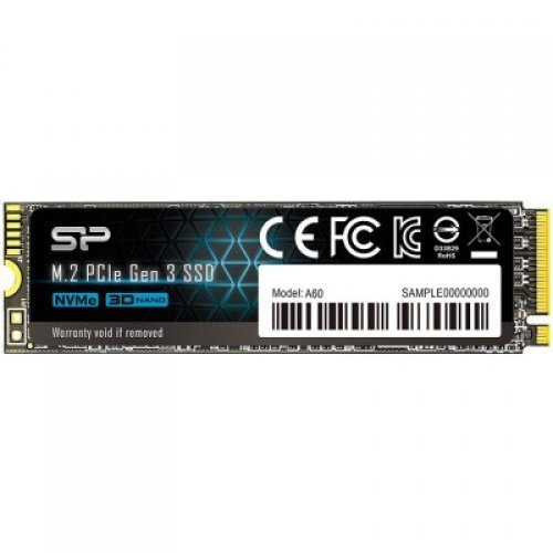 SSD SILICON POWER 256GB A60, M.2 2280, PCIe Gen3x4, SLC Cache, Read/Write: 2200/1600 Mb/s (снимка 1)