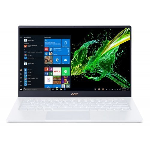 "Лаптоп Acer Swift 5 Pro SF514-54GT-750R, бял, 14.0"" (35.56см.) 1920x1080 лъскав, Процесор Intel Core i7-1065G7 (4x/8x), Видео nVidia GeForce MX350/ 2GB DDR5, 16GB DDR4 RAM, 1TB SSD диск, без опт. у-во, Windows 10 Pro 64 ОС, Клавиатура- светеща с БДС (снимка 1)"