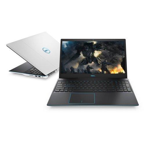 """Лаптоп Dell G3 3590, бял, 15.6"""" (39.62см.) 1920x1080 без отблясъци, Процесор Intel Core i5-9300H (4x/8x), Видео nVidia GeForce GTX 1650/ 4GB GDDR5, 8GB DDR4 RAM, 1TB HDD + 256GB SSD диск, без опт. у-во, Linux Ubuntu 18.04 ОС, Клавиатура- светеща (снимка 1)"""