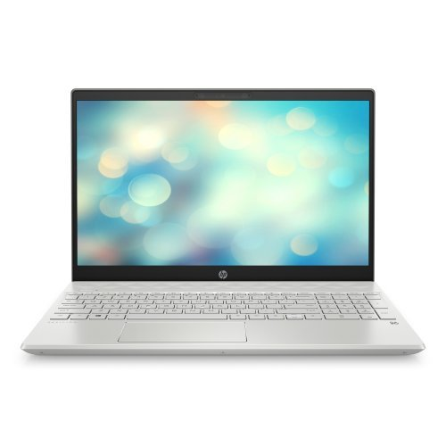 """Лаптоп HP Pavilion 15-cs3037nu, сребрист, 15.6"""" (39.62см.) 1920x1080 без отблясъци, Процесор Intel Core i7-1065G7 (4x/8x), Видео nVidia GeForce MX250/ 4GB GDDR5, 8GB DDR4 RAM, 1TB HDD + 256GB SSD диск, без опт. у-во, FreeDOS ОС, Клавиатура- светеща с БДС (снимка 1)"""