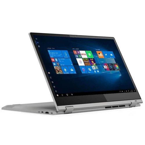 "Лаптоп Lenovo IdeaPad C340-15IML, 2 в 1, сребрист, 15.6"" (39.62см.) 1920x1080 лъскав IPS тъч, Процесор Intel Core i5-10210U (4x/8x), Видео nVidia GeForce MX230/ 2GB GDDR5, 8GB DDR4 RAM, 512GB SSD диск, без опт. у-во, Windows 10 64 ОС, Клавиатура- с БДС (снимка 1)"
