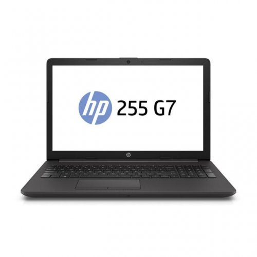"Лаптоп HP 255 G7, черен, 15.6"" (39.62см.) 1366x768 (HD) без отблясъци, Процесор AMD A4-9125 APU with Radeon R3 Graphics (2x/2x), Видео AMD Radeon Vega 3, 8GB DDR4 RAM, 256GB SSD диск, DVDRW, FreeDOS ОС (снимка 1)"