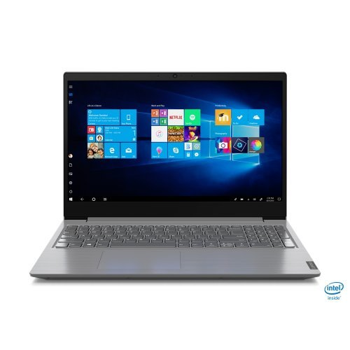 "Лаптоп Lenovo V15-IIL, сив, 15.6"" (39.62см.) 1920x1080 (Full HD) без отблясъци, Процесор Intel Core i7-1065G7 (4x/8x), Видео Intel Iris Plus 10XXG7, 12GB DDR4 RAM, 512GB SSD диск, без опт. у-во, FreeDOS ОС, Клавиатура- с БДС (снимка 1)"